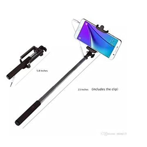 e35fbd649f5a11 outlet Samsung Galaxy A5 (2017) MINI Black Cell-Stuff Selfie Stick with Aux