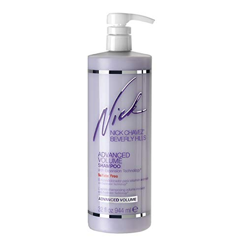Nick Chavez Beverly Hills Sulfate Free Advanced Volume Shampoo with Expansion Technology - Premium Scalp and Hair Care - Volumizing Shampoo - 32oz