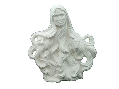 Native American Nature Spirit - Ready to Paint Ceramic Bisque - Hand Poured in The USA (Ceramic Bisque Lion)