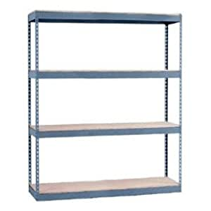 24 Quot D X 48 Quot W X 60 Quot H Heavy Duty Metal Rivet Shelving These