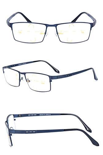 Tamaño Fatiga decoloradas Zoom de Lectura 3X Sol Ultraligero Blue lectores Color Lens Lens prevención Brown DAFREW Gafas Brown Hombres de de Material de para Inteligente la Gray Gafas wvYxqg