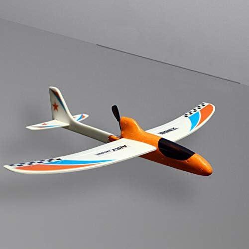 OERTUFU RC Airplane DIY Children Hand Throwing Capacitor Educational Foam Gift Funny Toy Glider Streamline Electric Model(Orange)