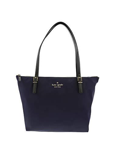 Kate Spade Women's Watson Lane Maya Faux Leather Nylon Shoulder Bag Tote - Rich Navy Multi