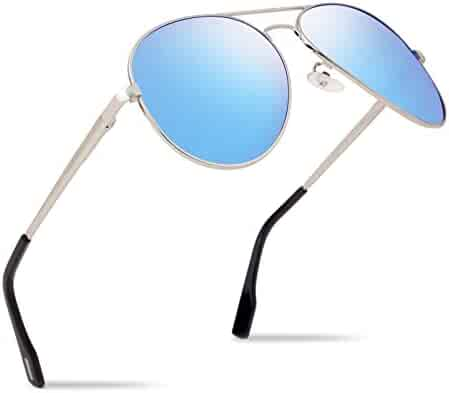 6932dd128c Polarized Aviator Cool Sunglasses for Men Ultra Light Metal Frame UV Pro