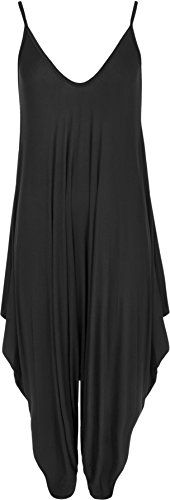 WearAll Women's Lagenlook Strappy Baggy Harem Jumpsuit Dress Top Playsuit Cami 10-20