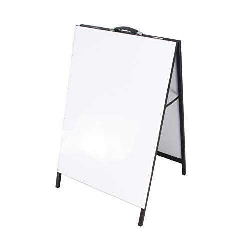 (FixtureDisplays Metal A-Frame Board Menu Board White Dry and Wet Erase Sidewalk Sign)