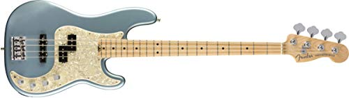 Fender American Elite Precision Bass - Satin Ice Blue Metallic w/Maple Fingerboard ()