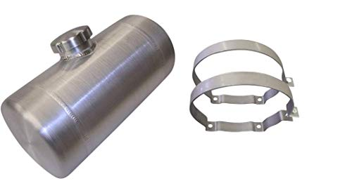 6x10 Center Fill Spun Aluminum Gas Tank - 1 Gallon - GO-Kart, Mini Bike - Made in the USA! (Go Kart Fuel Tank)