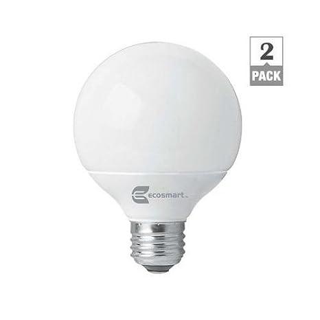 Ecosmart Soft White G25 Cfl Light Bulb 40w Equivalent 2 Pack