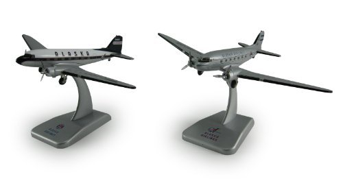 DARON WORLDWIDE Hogan Alaska Airlines DC-3 1/200 2 Plane Set