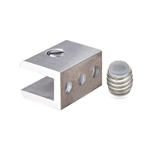 Glasses Clip Adjustable Glass Shelf Clip Clamp Bracket Support Bathroom Curtain Clips Mirror Clips Towel Clips 4pcs by Kitchen GIMS