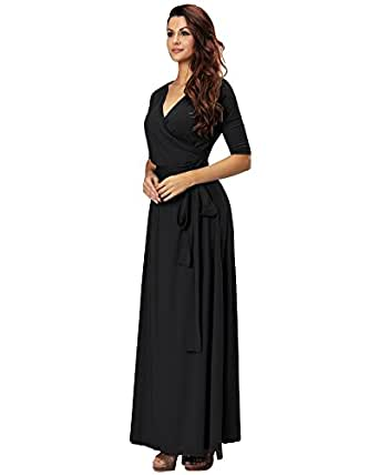 Aofur Womens Evening Dress Red Ball Gown Prom Evening Party Formal ...