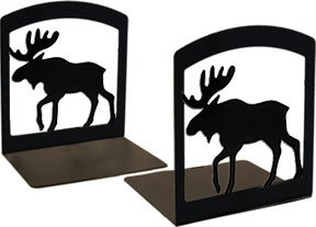 (StealStreet SS-VWI-BE-19 6.25 Inch Moose Book Ends)