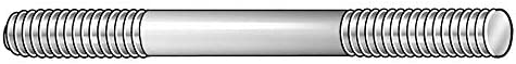 10 18-8 Stainless Steel Double End Threaded Stud with Plain Finish; PK2