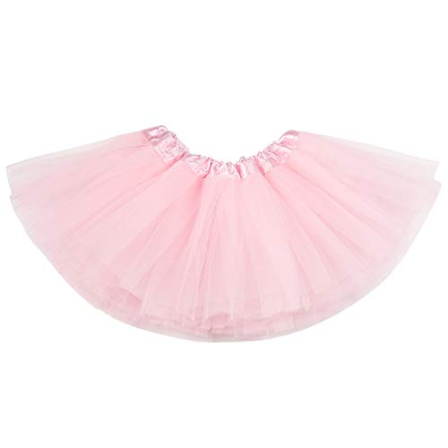 belababy Baby Girl Tutu Pink 5 Layers Dress Up Skirt, 0-24 Months, -