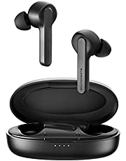 Wireless Earbuds SoundPEATS TrueCapsule Bluetooth Earphones with Microphone Headphone Bluetooth 5.0 Smart Touch, Mono/Binaural Mode, IPX5 Waterproof, 24 Hours Playtime for Meeting