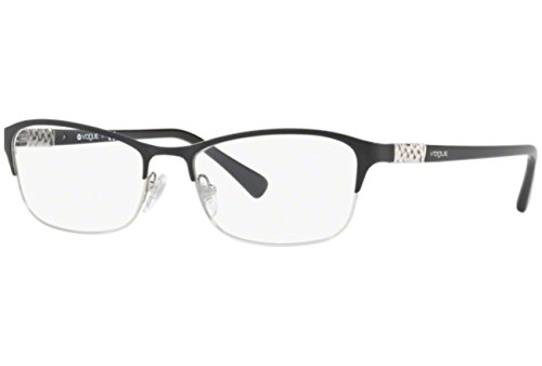 - Vogue VO4057B Eyeglass Frames 352-52 - Black/Silver VO4057B-352-52
