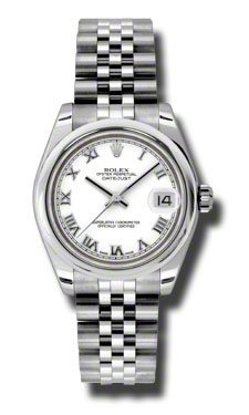 Rolex Datejust White Dial Automatic Stainless steel Ladies Watch 178240WRJ