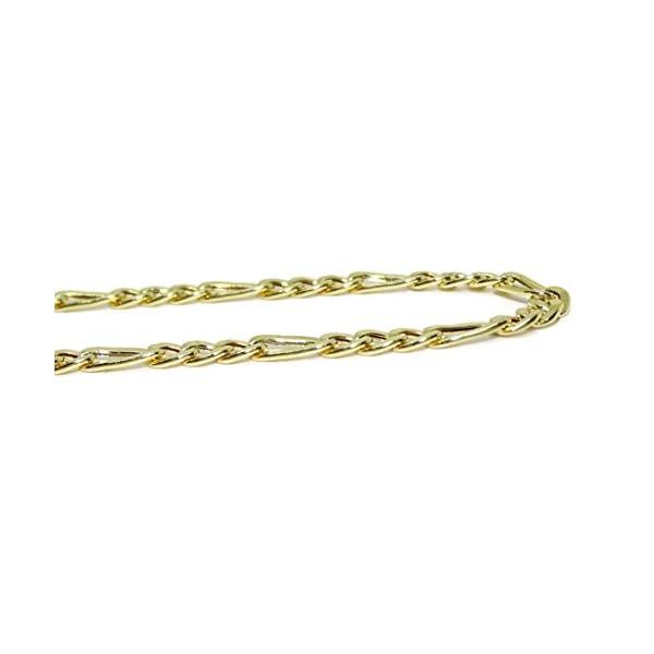 Cadena de Oro Amarillo de 18k para Hombre Tipo 3×1 de 60cm de Larga y 4mm de Ancha Cadena de Oro Amarillo de 18k para Hombre Tipo 3×1 de 60cm de Larga y 4mm de Ancha Cadena de Oro Amarillo de 18k para Hombre Tipo 3×1 de 60cm de Larga y 4mm de Ancha