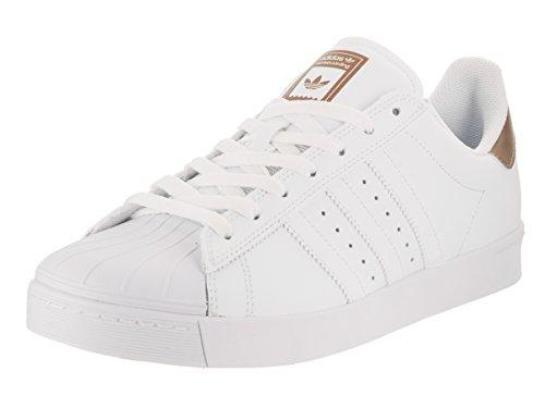 Copper Footwear (adidas Skateboarding Unisex Superstar Vulc ADV Footwear White/Copper Metallic/Footwear White 12 Women/11 Men M US)