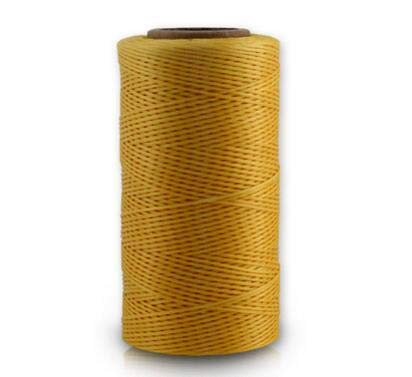 Laliva 260meters/roll 0.8MM Waxed Leather Thread Wax Cotton Cord String Strap Necklace Rope Bead for Shamballa Bracelet Z726 - (Color: Gold)