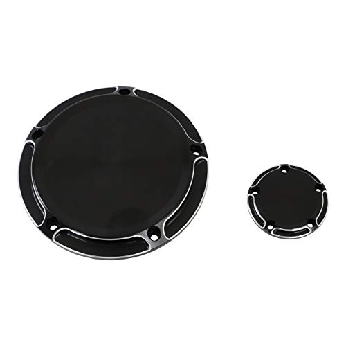 Black Clarity Edge Deep Cut 5-Holes Derby Timer Cover for 1999-2014 Harley Twin Cam Touring Road King Electra Glide FLHR FLHX FXST -