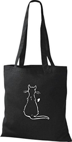 Shirtinstyle - Bolso de tela de algodón para mujer negro - negro