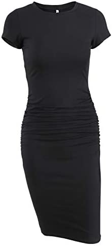 Missufe Womens Ruched Sundress Bodycon product image