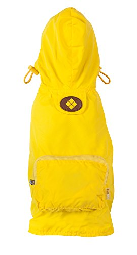 fabdog Packable Dog Raincoat Yellow (Large)