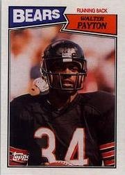 1987 Topps Walter Payton Football Card 46 Shipped In Protective Display Case