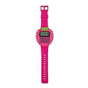 Reloj calculadora para niño o niña con forma de fresa