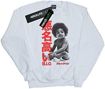 Notorious Big Damen Kanji Baby Sweatshirt Weiß X-Large
