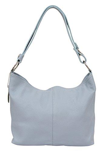 Ambra bleu Hobo clair Porté main Modèle GL005 Sac à épaule Moda pour Femme TPrqTwR