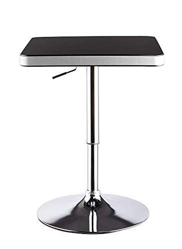 Modern Bar Table,Duhome Bar Dining Height Table with Silver and Base