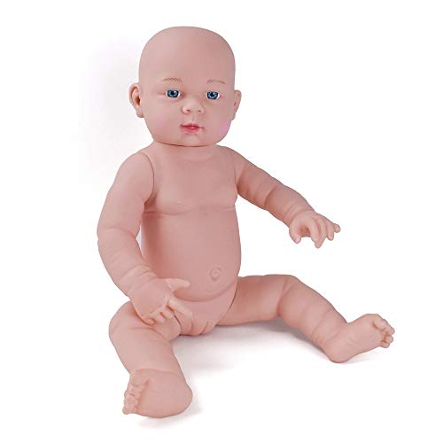 "HiPlay Realistic Baby Doll Lifelike Silicone Vinyl Naked Boys/Girls Newborn Baby Dolls for Kids Toys/Nursing Practice/Teaching/Photography - Size & Gender Selectable (21""-Girls)"