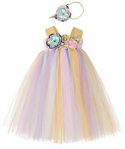 Tutu Dreams Gold Unicorn Mermaid LOL Tutu Outfit Baby Girl 1st Birthday Party Baptism Coronation (2, -