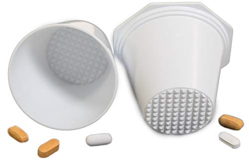 PILL CRUSHER, GRINDER - for Larger Pills, Vitamins or Multiple Tablets - Great for both Humans and Pets | Easy to use and Clean | QUICKLY Add Liquids for drinking - by MegaPill ()
