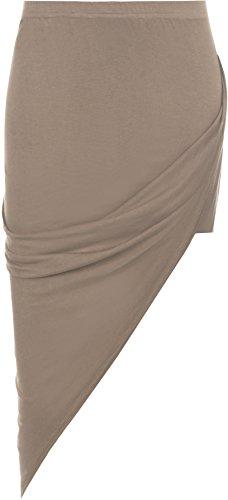 Plaine Jupe Tailles t tendue C Mokka 36 42 Jupes Ruch Rassembls Ouvert Fente Femmes WearAll Femmes lastique v8OxIwO