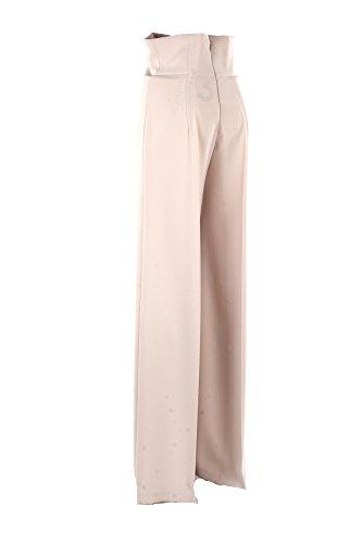 Pantalone Donna Elisabetta Franchi Essential 42 Vaniglia Pa12381e2 Primavera Estate 2018