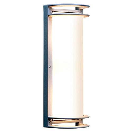 Bermuda - LED Outdoor Bulkhead Wall Light - Satin Finish - Ribbed Frosted Glass Shade