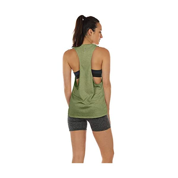 icyzone Workout Tank Tops for Women Running Muscle Tank Sport Exercise Gym Yoga Tops Athletic Shirts
