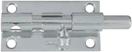 - Stanley Hardware S227-110 1084 Heavy Barrel Bolt with Screws in Zinc, 4