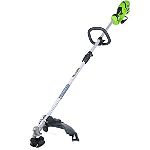 GreenWorks 21142 10Amp 18-Inch Corded String Trimmer, Gas Attachment Capable