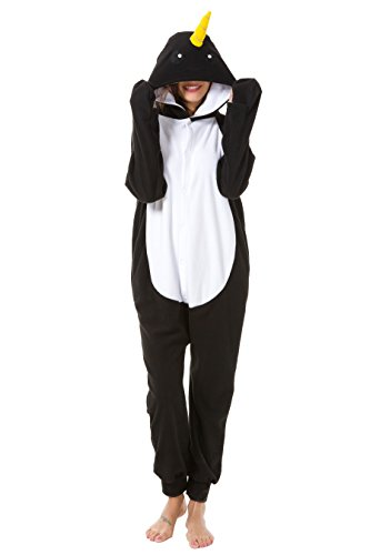 Foresightrade Adults and Children Animal Narwhal Multi-color Cosplay Costume Pajamas Onesies Sleepwear (S fit for Height 145-155CM (57
