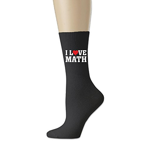 RZM YLY I Love Math Unisex Funny Novelty Casual Soft Cotton Socks -