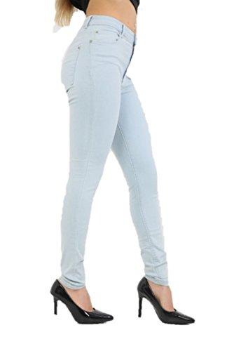 Azul Celeste mujer Vaqueros Skinny MANGO Ex para WRnp1zYq