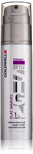 Goldwell Style Sign 1 Flat Marvel Straightening Balm for Unisex, 3.3 Ounce (Straightening Balm Hair Straight)