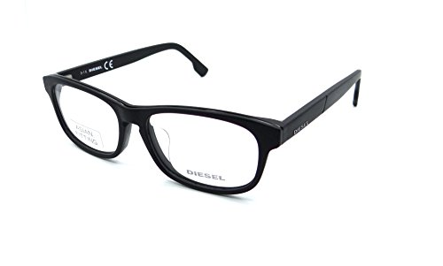 Diesel Rx Eyeglasses Frames DL5197-F 002 53-15-145 Matte Black Asian Fit by Diesel
