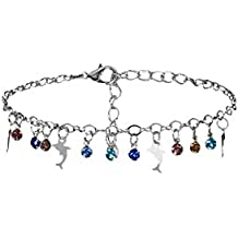 Anklet Feet Figure Eight Chain Charm Bracelet String Bangle Silver Women Jewelry