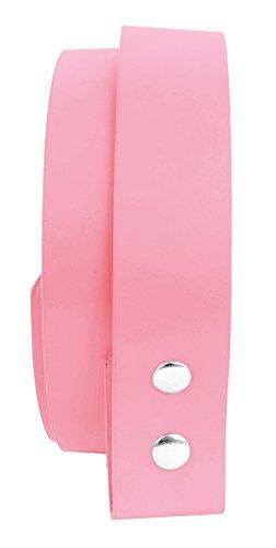 Belle Donne-Women Belt Straps|Belt Without Buckle|Man Made (Pink Leather Belt Strap)